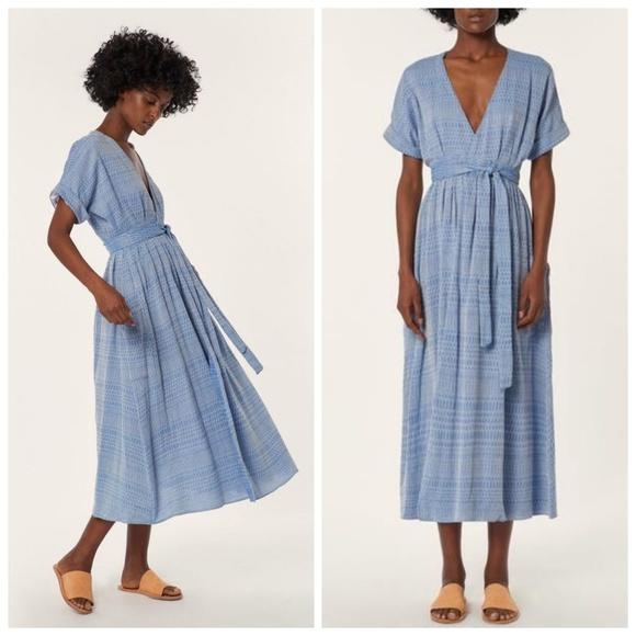 bf3db4ea88cc Mara Hoffman Ingrid midi wrap dress. M_5b665e1f04e33d97c4e0445e